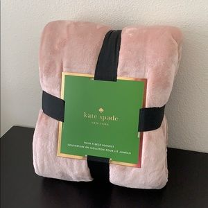 Kate Spade Pink Twin Fleece Blanket